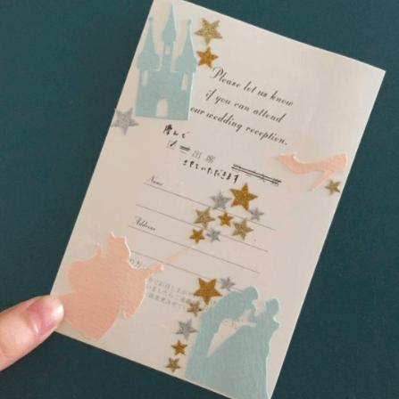 結婚式の招待状の返信にシール