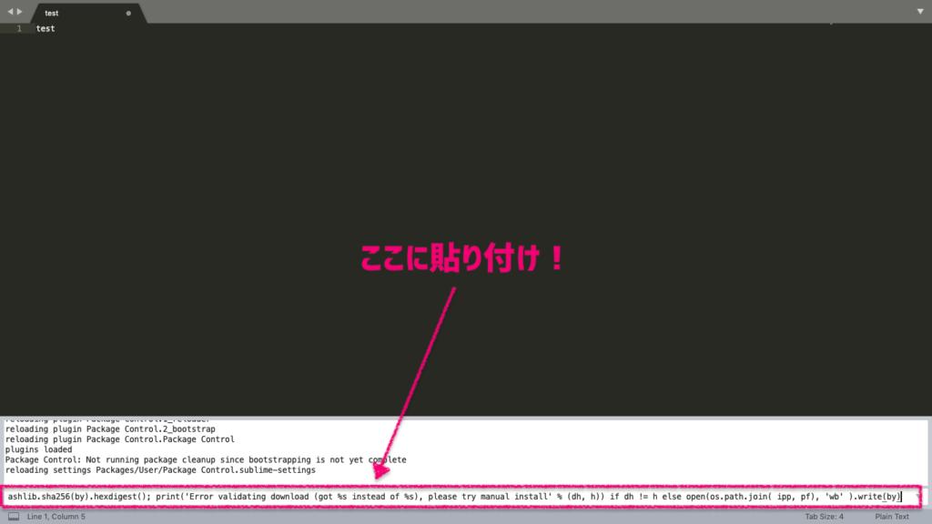 Sublime Textでコンソールを開く2